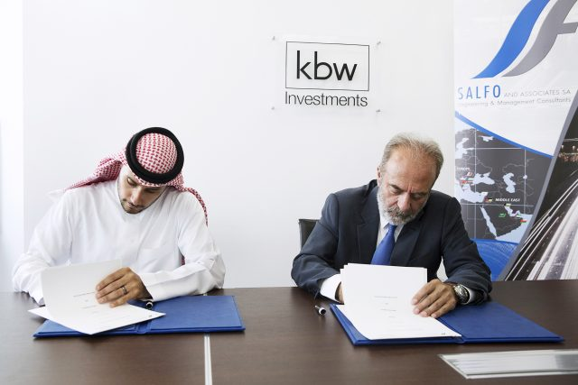 KBW Investments founder and Chairman HRH Prince Khaled bin Alwaleed bin Talal, and Ioannis Foteinos, CEO, Salfo and Associates SA