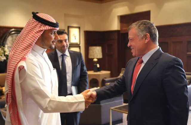 HRH Prince Khaled bin Alwaleed bin Talal, and His Majesty King Abdullah II Bin Al-Hussein